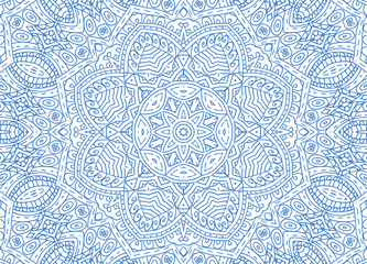 Blue abstract outline pattern on white