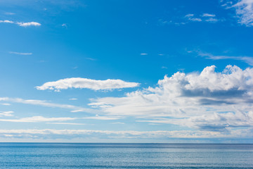 White clouds over Alghero sea