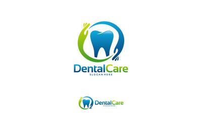 Dental Care logo designs concept vector, Family Dental logo template