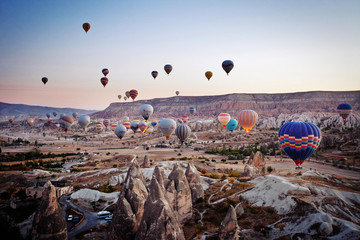 mountain landscapes of Cappadocia