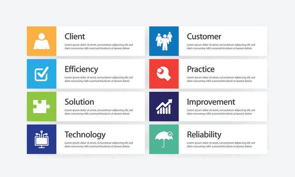 Service Innovation Infographic Icon Set