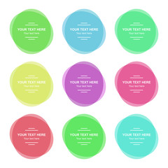 Set of vector colorful banners. Abstract vector colored shapes for design. Banners with sample text.