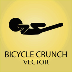 Bicycle crunch exercise vector pictogram.