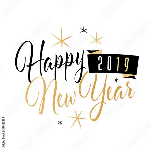 Happy New Year Logo 2019 63