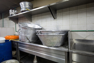 A Real Grungy Dirty Restaurant Industrial & Commercial Kitchen equipment
