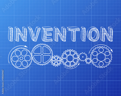 Invention blueprint stock image and royalty free vector files on invention blueprint malvernweather Images