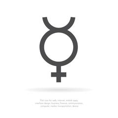 Mercury symbol. Vector icon.