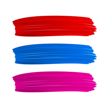 Colorful vector paint brush strokes.