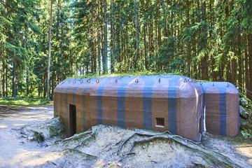Historical bunker in a border line near Slavonice town in Czech Republic