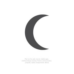 Vector crescent moon.