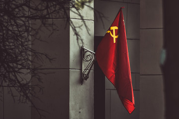USSR flag on the building