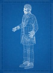 Human 3D blueprint