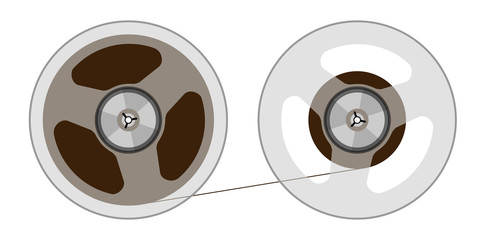 Two reels with a tape