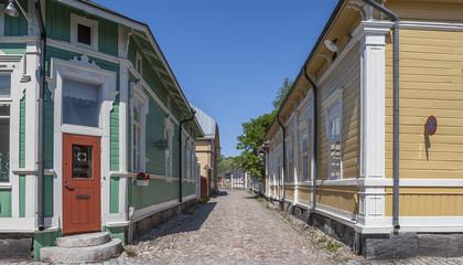 Rauma, Finnland,Holzhausstadt und Weltkulturerbe