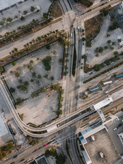 Driveways and overhead road, Miami Downtown, Florida, USA