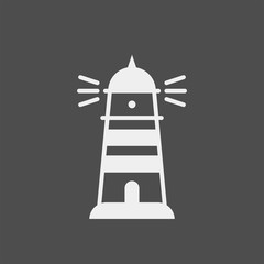 Lighthouse flat vector icon