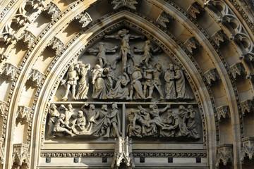 Detail, St. Veit oder Veitsdom, Hradschin, Prag, Tschechien, Europa