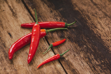 red hot bird chili pepper nature background
