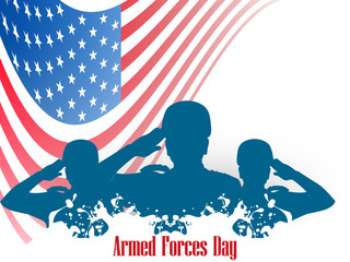 nice and beautiful abstract, banner or poster for Armed Forces Day with nice and creative design illustration.