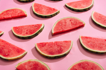 fresh watermelon slices, arranged in pattern