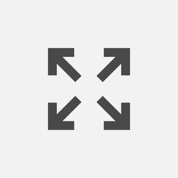 resizing vector icon for zoom cropping and editing