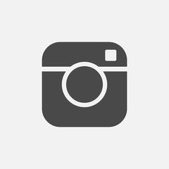 camera vector icon for social media and digital