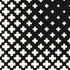 Monochrome texture with gradually transition effect, carved crosses