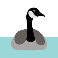 goose  vector illustration flat style  front  side