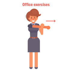 Exercises for office. Vector.