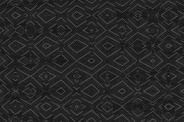 Ion Fabric texture, futuristic textile background in monochrome