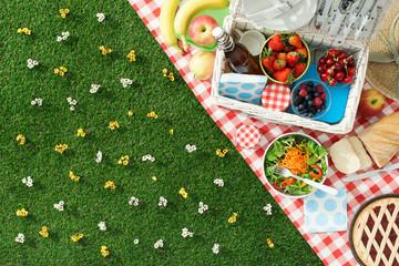 Fotorolgordijn Picknick Summertime picnic
