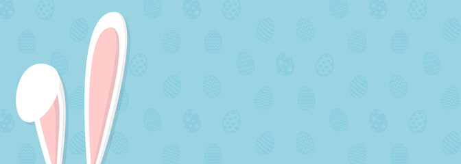 Easter - layout of a banner with bunny. Vector.