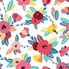 Vintage flower seamless pattern. Gentle, spring background.