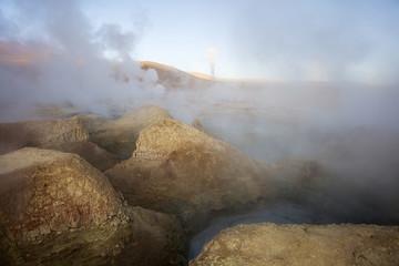Geysers Sol de Manana in Bolivia