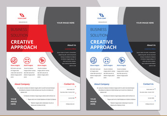 Flyer Layout with Bright Banner Element