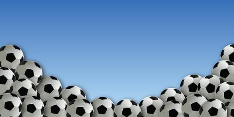football - foot - ballon de foot - ballon - fond -présentation - arrière plan - symbole - concept -frise