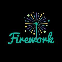 Firework logo vector illustration