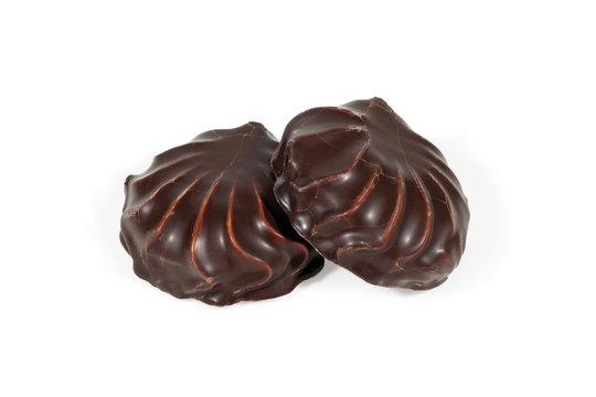 Marshmallow in chocolate.