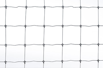Black metal fence isolated on white background