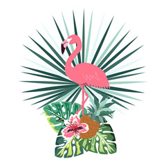 summer flamingo banner