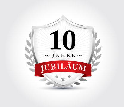 10 Jahre Jubilaeum Wappen