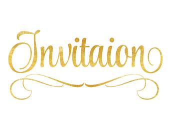 Invitation – Lettrage en or