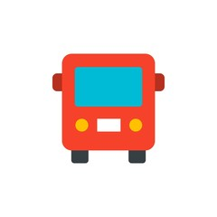 city bus, public transportation flat vector icon. Modern simple isolated sign. Pixel perfect vector  illustration for logo, website, mobile app and other designs