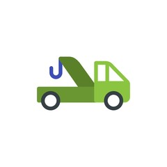 evacuation truck, evacuation service flat vector icon. Modern simple isolated sign. Pixel perfect vector  illustration for logo, website, mobile app and other designs