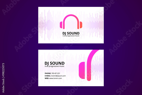 Business card template for dj and music business stock image and business card template for dj and music business accmission Gallery