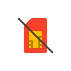 no sim card flat vector icon. Modern simple isolated sign. Pixel perfect vector  illustration for logo, website, mobile app and other designs
