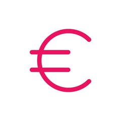 euro sign flat vector icon. Modern simple isolated sign. Pixel perfect vector  illustration for logo, website, mobile app and other designs