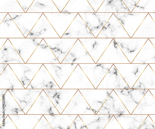 """Modern Minimalist White Marble Texture With Gold"