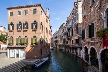 Small venetian canal, Venice, Italy