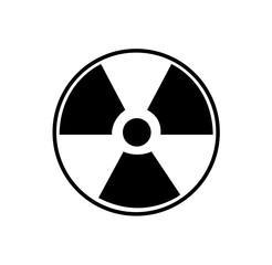 Nuclear radioactive waste symbol